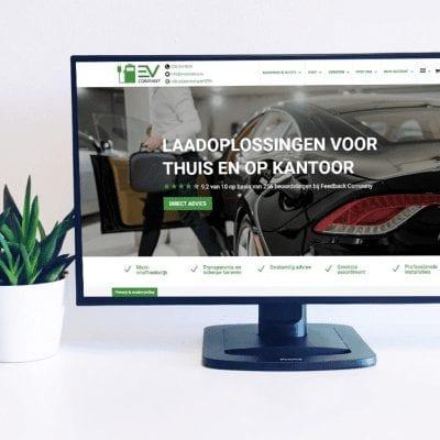 Nieuwe homepage en verbeterde webshop voor EV Company